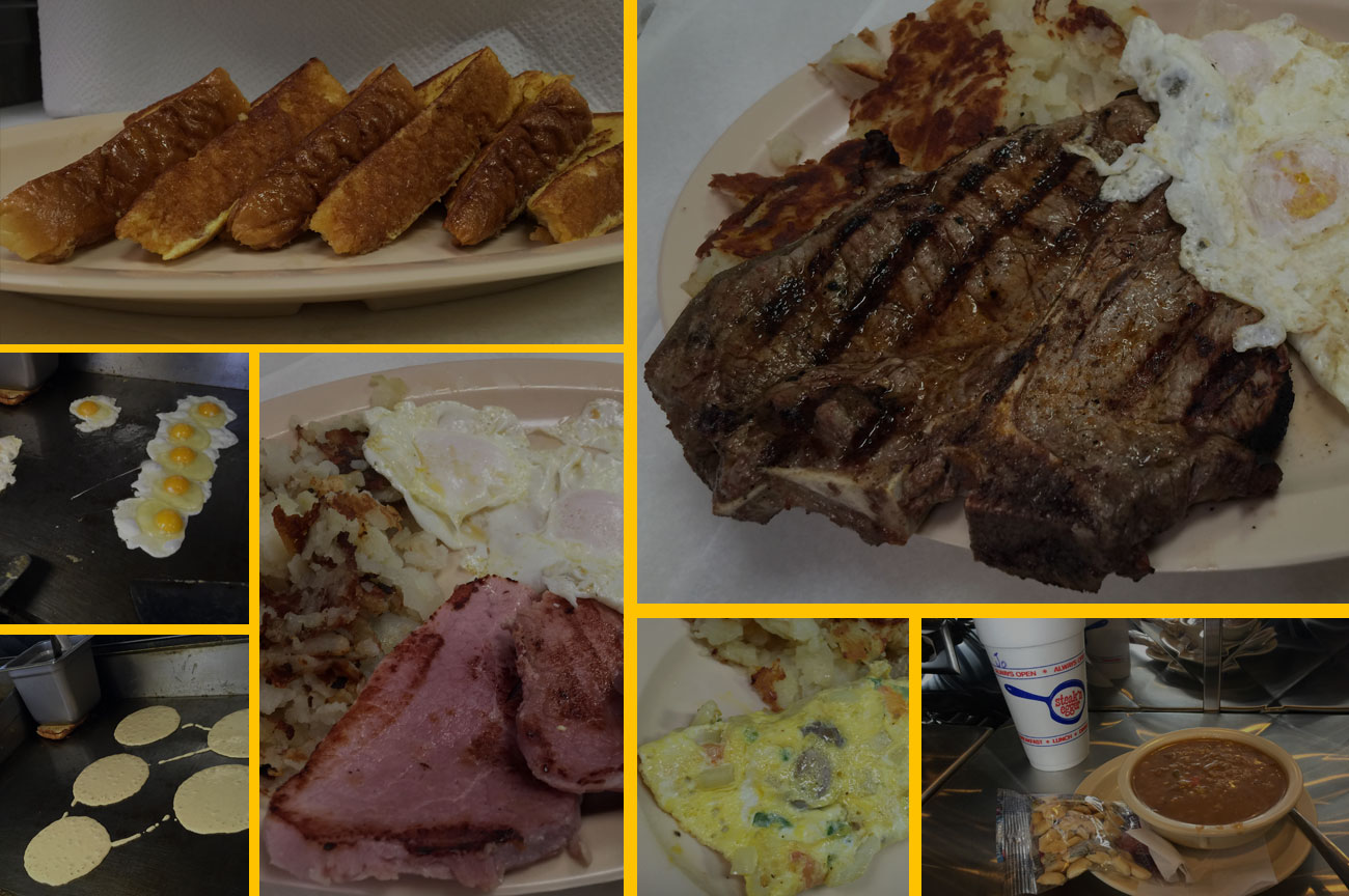 Steak N Egger Food Collage